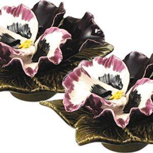 sokkel met aubergine kleurige viool 17 cm