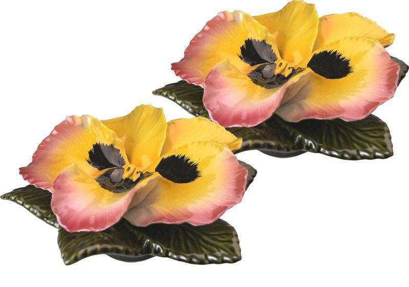 sokkel met gele viool 17 cm