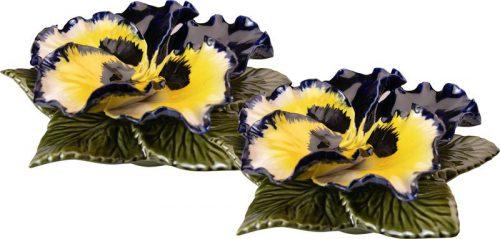 sokkel met blauw gele viool 17 cm
