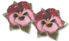 sokkel met rood roze viool 17 cm