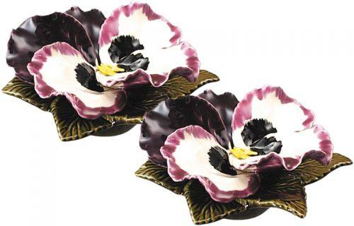 sokkel met aubergine viool 20 cm