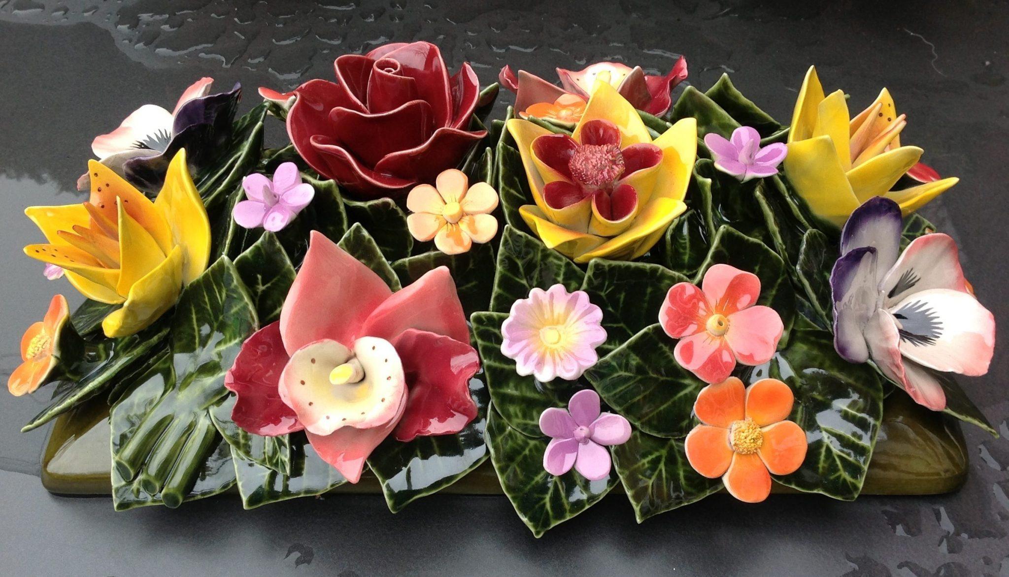 majolica bloemen van keramiek famous french flowers bloem keramiek